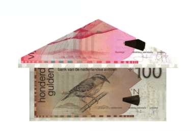 geld huis antilliaanse gulden 100 gulden 25 gulden